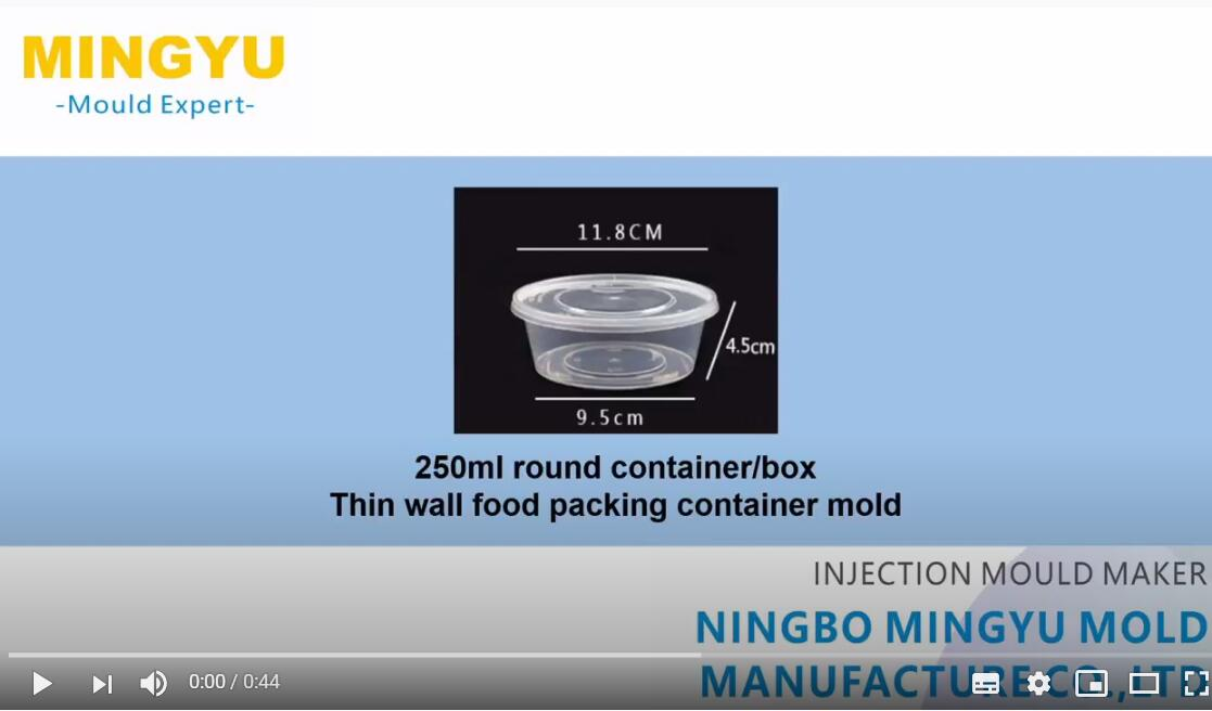250ml round food packing container mold trial running video